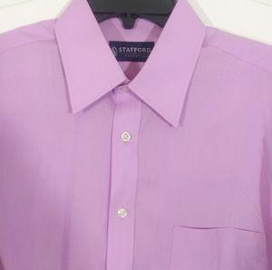 Stafford Essentials Short Sleeve Dress Shirt